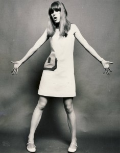 Double D dress worn by Jenny Boyd 1966