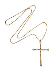Low Luv Long Chain with gold crucifix