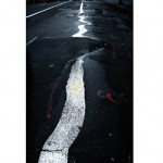 """CharlElie, Fifthave white line """"The Woman"""", 2005, photohgraphie."""