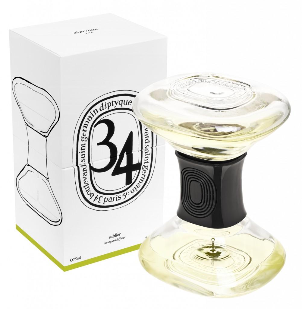 diptyque pr sente son sablier diffuseur d 39 odeur luxsure. Black Bedroom Furniture Sets. Home Design Ideas