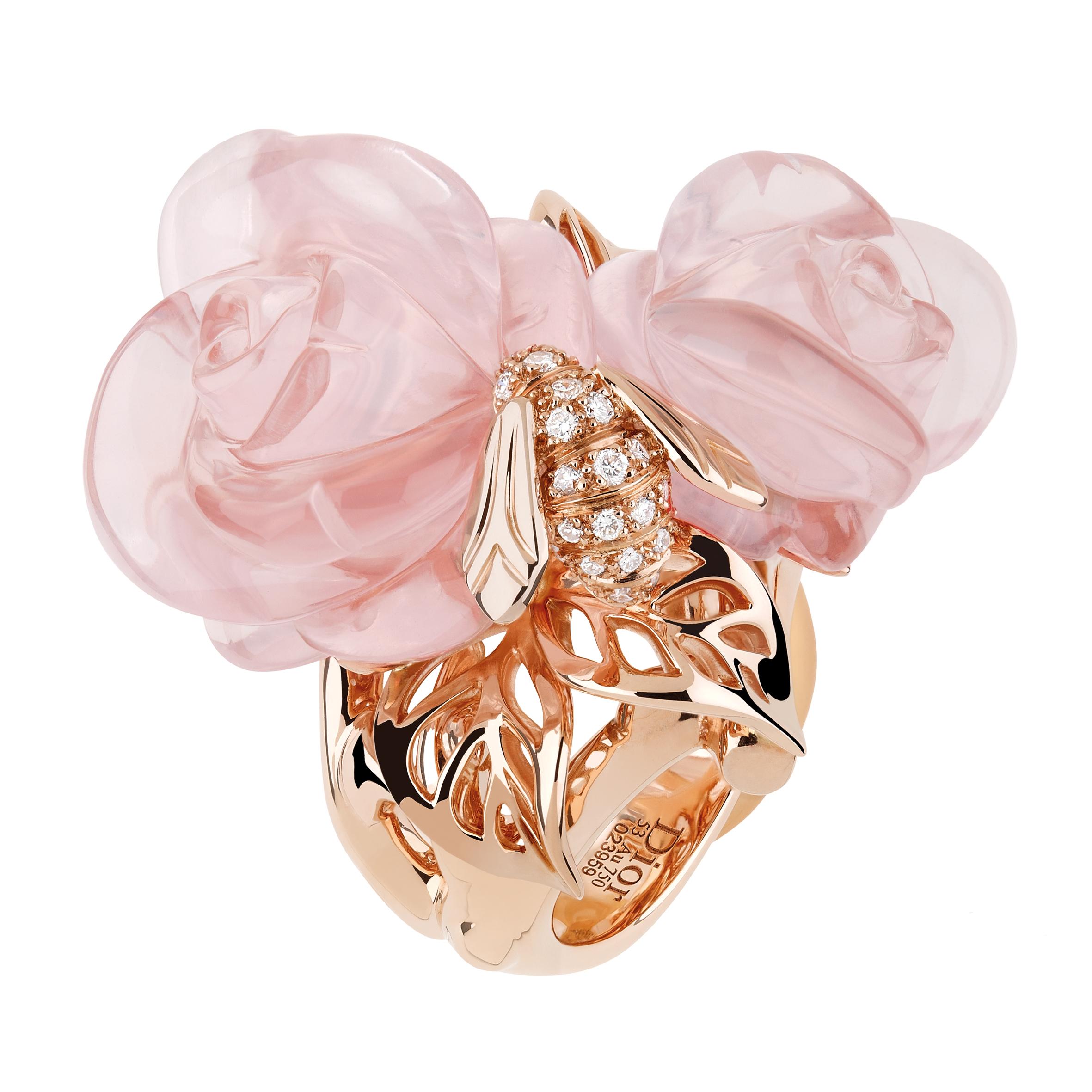 bague rose dior pr catelan quartz rose gm luxsure. Black Bedroom Furniture Sets. Home Design Ideas