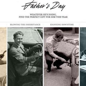 L'e-shop Mr PORTER fête les pères