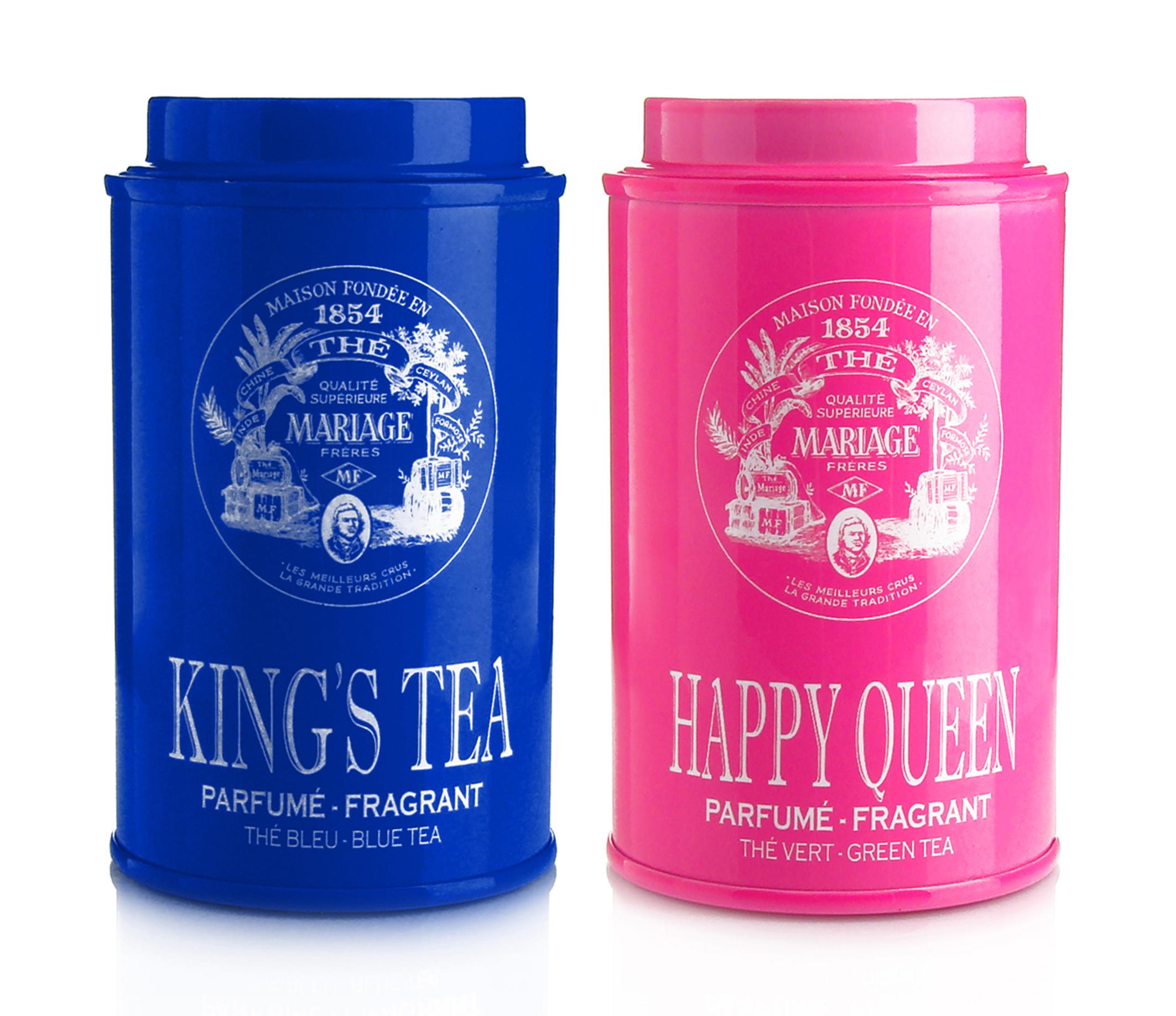 pour accompagner les galettes quoi de mieux que du th le kings tea un th bleu et le happy queen un th vert ont t crs spcialement pour - Th Mariage Frres