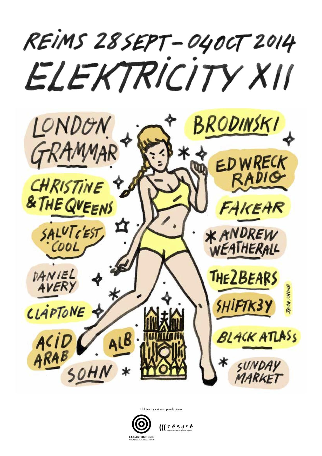Affiche Elektricity XII REIMS