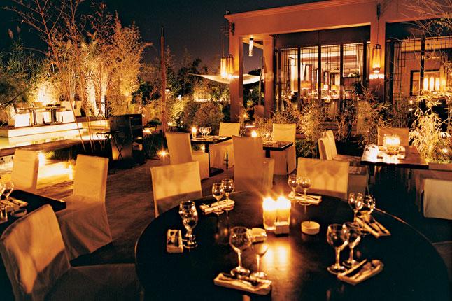 B zin cuisine d 39 inspiration tha marrakech luxsure for Restaurant jardin marrakech
