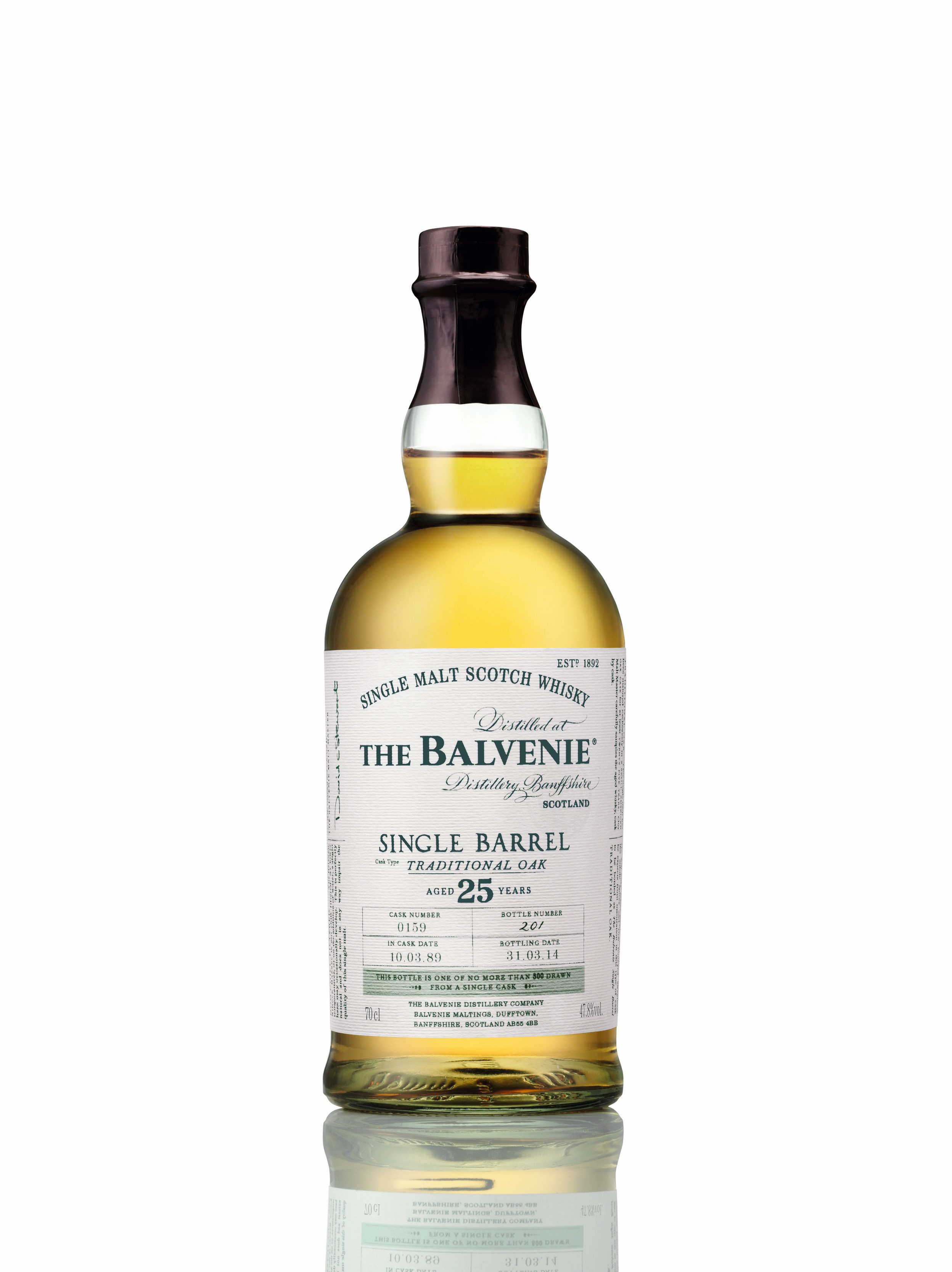 Balvenie single barrel traditional oak 25
