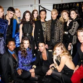 BalmainXH&M : Sequin, Perle, et cuir sur le Dancefloor