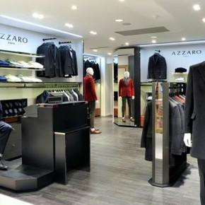 La Maison Azzaro présente son nouveau concept architectural dans son corner masculin des Galeries Lafayette Homme