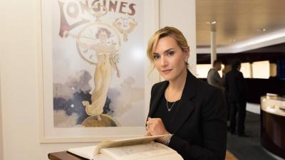 Longines accueille son égérie d'élégance Kate Winslet dans son siège suisse.