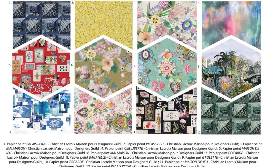 Christian Lacroix sublime vos murs avec une collection de papiers peints à l'esprit incontestablement Lacroix