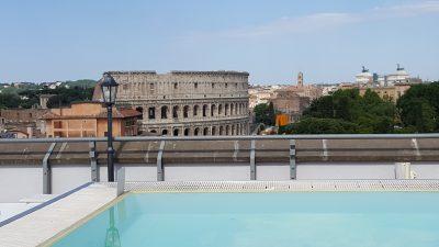 Hotel Mercure Roma Centro Colosseo, la tête dans le Colisée