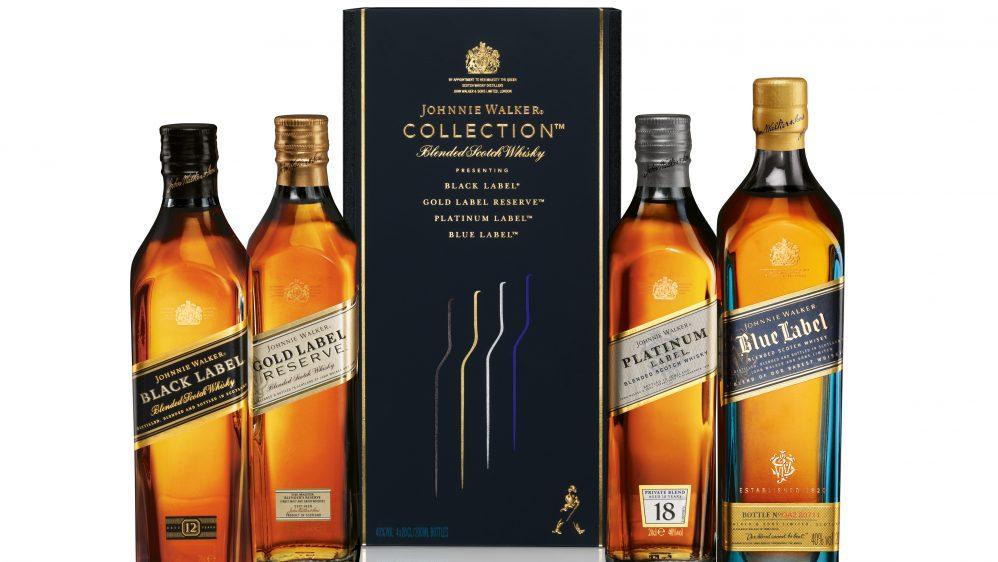 Johnnie Walker présente son coffret  « collection » pour la fin d'année