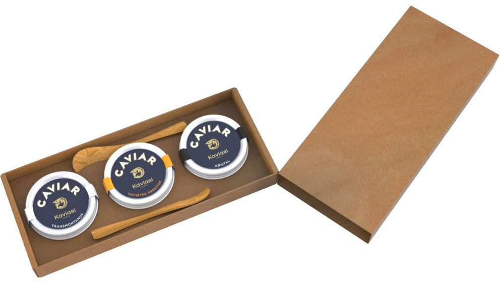 La maison de caviar Kaviari lance son nouveau Coffret TRIO DE NOEL
