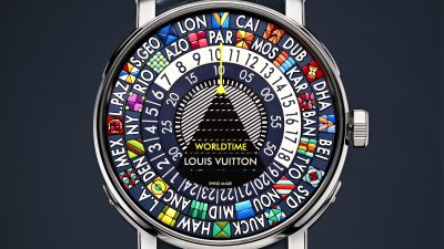LOUIS VUITTON nouvelle collection horlogère ESCALE BLEUE