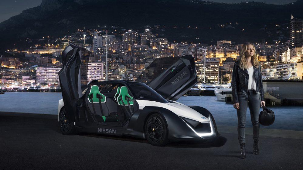 Nissan Electric: Margot Robbie au volant du Nissan Blade Glider 100% électrique sur le circuit mythique de Monaco