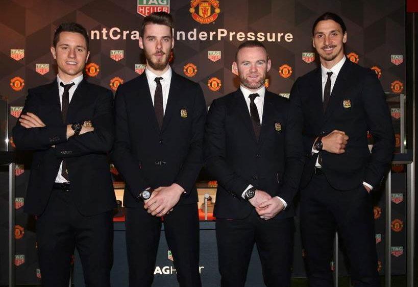 TAG Heuer & Manchester United dévoilent les éditions spéciales avec le s joueurs à Old Trafford Stadium