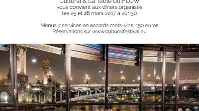 La Table du Flow et CULTURAL // 2 Special Dinners Off Festival // 25 et 26 mars