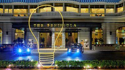 The Peninsula Hong Kong fête la troisième année de sa collabor ation avec la Royal Academy of Arts Britannique en dévoilant une installation de Michael Craig-Martin Ra
