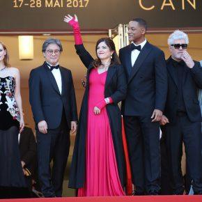 Jury member Agnès Jaoui wears Julien Fournié – 70th Cannes Film Festival – May 17th