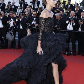 ARIZONA MUSE WEARS SWAROVSKI TO THE 70TH ANNUAL CANNES FILM FESTIVAL