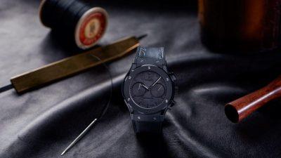 Hublot et Berluti dévoilent la montre Classic Fusion Chronograph Berluti