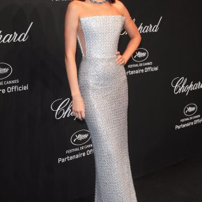 KENDALL JENNER WEARS RALPH & RUSSO TO THE 70th ANNUAL CANNES FILM FESTIVAL CHOPARD PARTY
