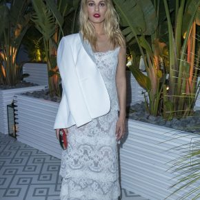 "SVEVA ALVITI WEARS SWAROVSKI CLUTCH TO THE MADAME FIGARO ""CANNES FRENCH PARTY"""