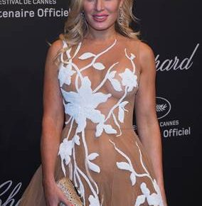 HOFIT GOLAN WEARS SWAROVSKI TO THE CHOPARD PARTY