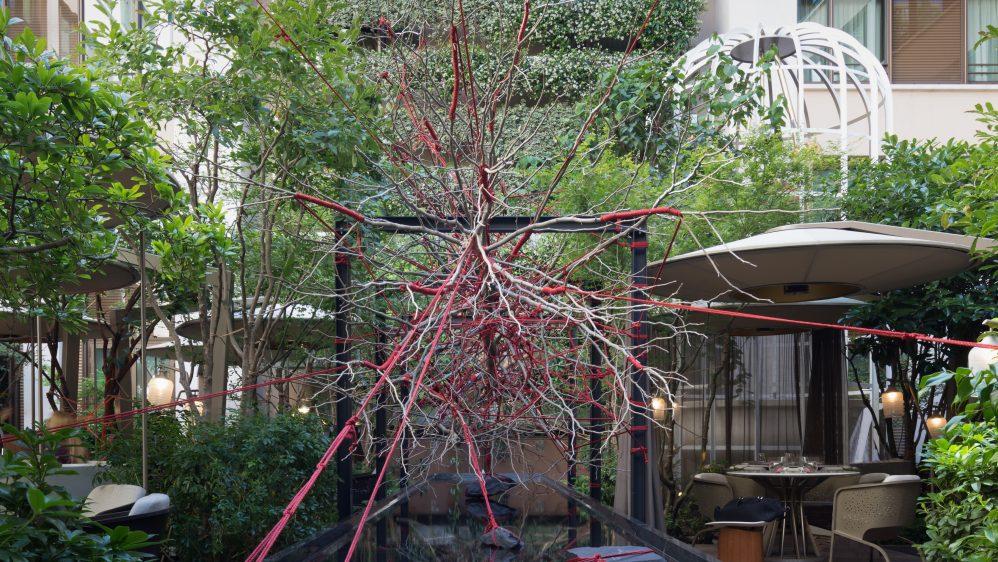 The Red Garden de Christophe Gautrand pour Tanqueray : l'audace au Mandarin Oriental, Paris
