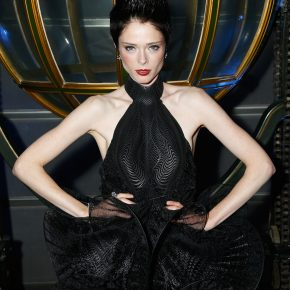 COCO ROCHA WEARS ATELIER SWAROVSKI TO THE COCKTAIL RECEPTION OF IRIS VAN HERPEN & SWAROVSKI