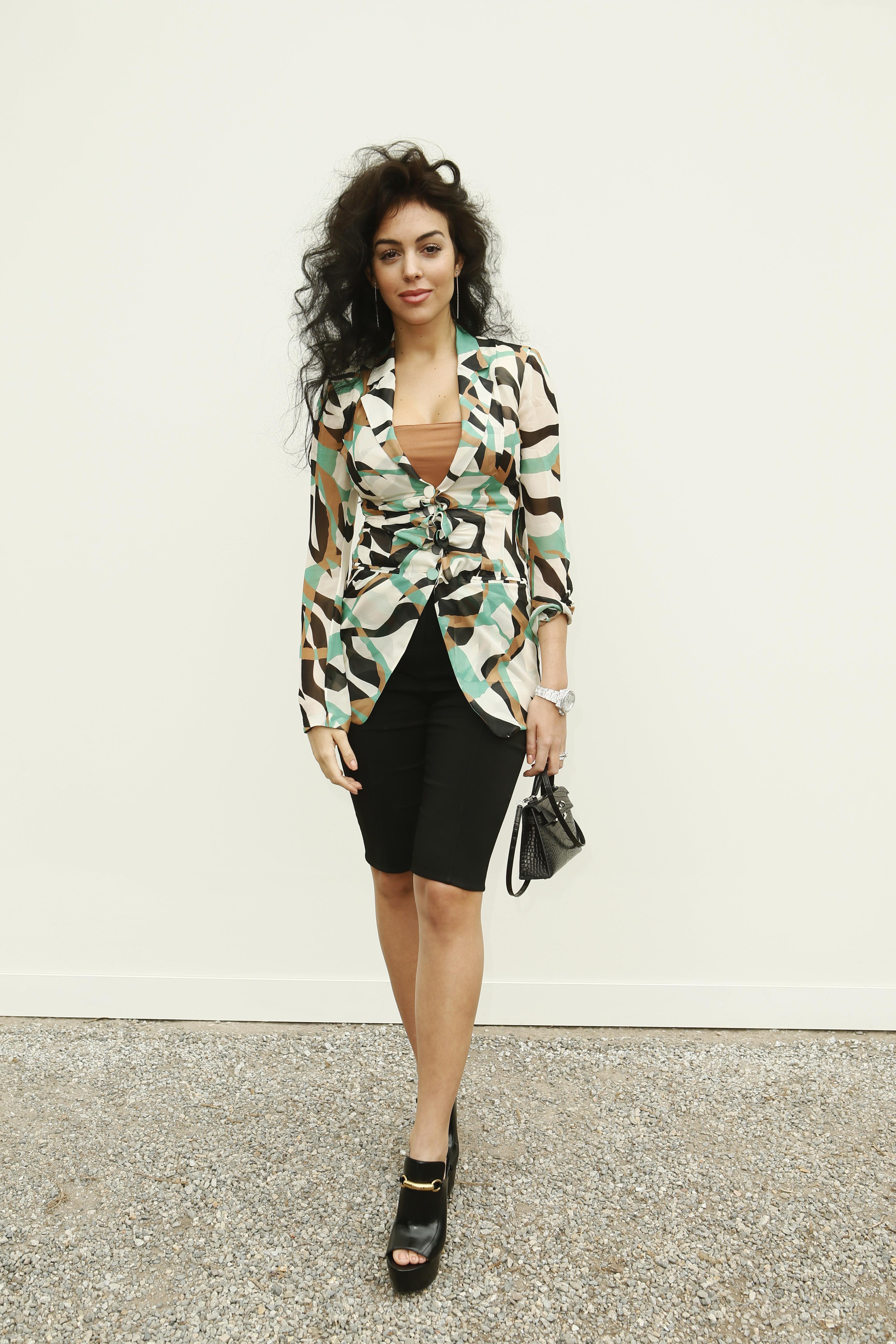 c74003ea43e Georgina Rodriguez   Roberto Cavalli Fashion Show Fall Winter 2019-20  Women s   Men s collection